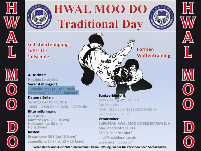 Hwal Moo Do Traditional Day
